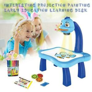 Children-Magnetic-Plastic-Drawing-Board-Projector-Painting-Tool-UK-Hot-Sale
