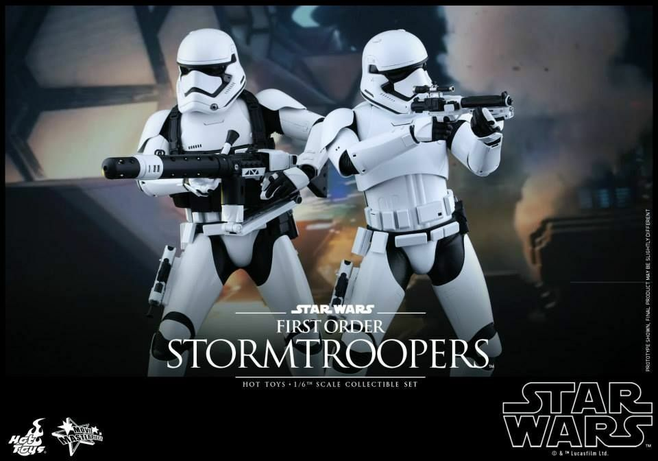 Estrella WARS THE FORCE AWAKENS  FIRST ORDER STORMTROOPER 1 6 SCALE  SET HOT TOYS