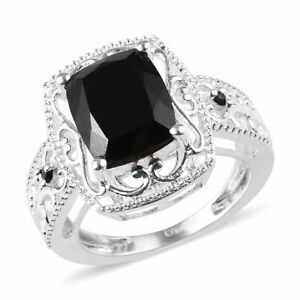 925-Sterling-Silver-Tourmaline-Black-Spinel-Statement-Ring-Jewelry-Size-5-Ct-3-2