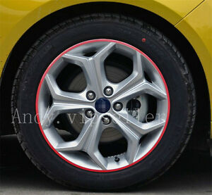 A-Set-Reflective-Auto-Wheel-Hub-Light-Red-Four-Wheel-Decoration-Sports-Stickers