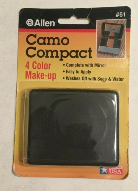 Allen 4 Four Color Face Painting Compact Black Brown Gray Green Camo Camouflage
