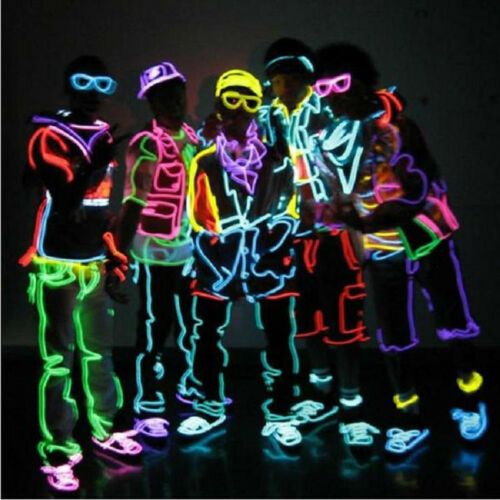 Creative 3M Glowing Flexible EL Wire LED Neon Light Strip Rgb Line Party Decor