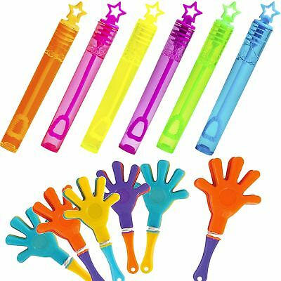 Onestà 6 Tubi Bolle & 6 Clappers Kids Borsa Festa Bottino Filler Favorisce Per Ragazzi Ragazze- Ultimi Design Diversificati
