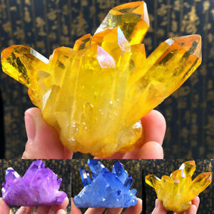 CREATIVE-Natural-Yellow-Crystal-Quartz-Citrine-Cluster-Mineral-Specimen-Healing