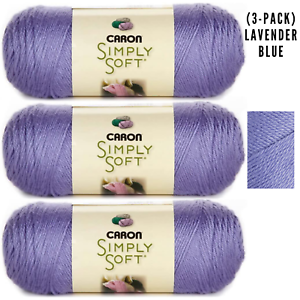 3-Pack-Yarn-Solids-Lavender-Blue-Caron-Simply-Soft-H97003-9756