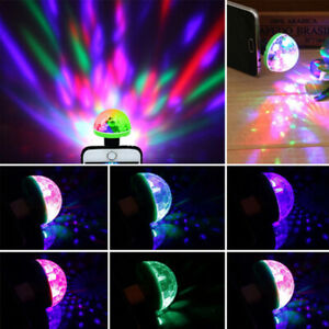 LED Magic Ball Lamp USB Disco Bar Party Music Stage Projector Effect Lights