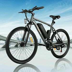 26'' Mountain Bicycle Electric Bike Ebike 21 Speed W/ Removable Li-Battery USA
