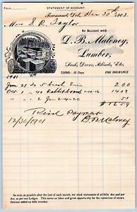 1901-D-B-MALONEY-LUMBER-SASH-DOORS-BLINDS-ETC-TOWNSEND-DELAWARE-DE-S-R-TAYLOR