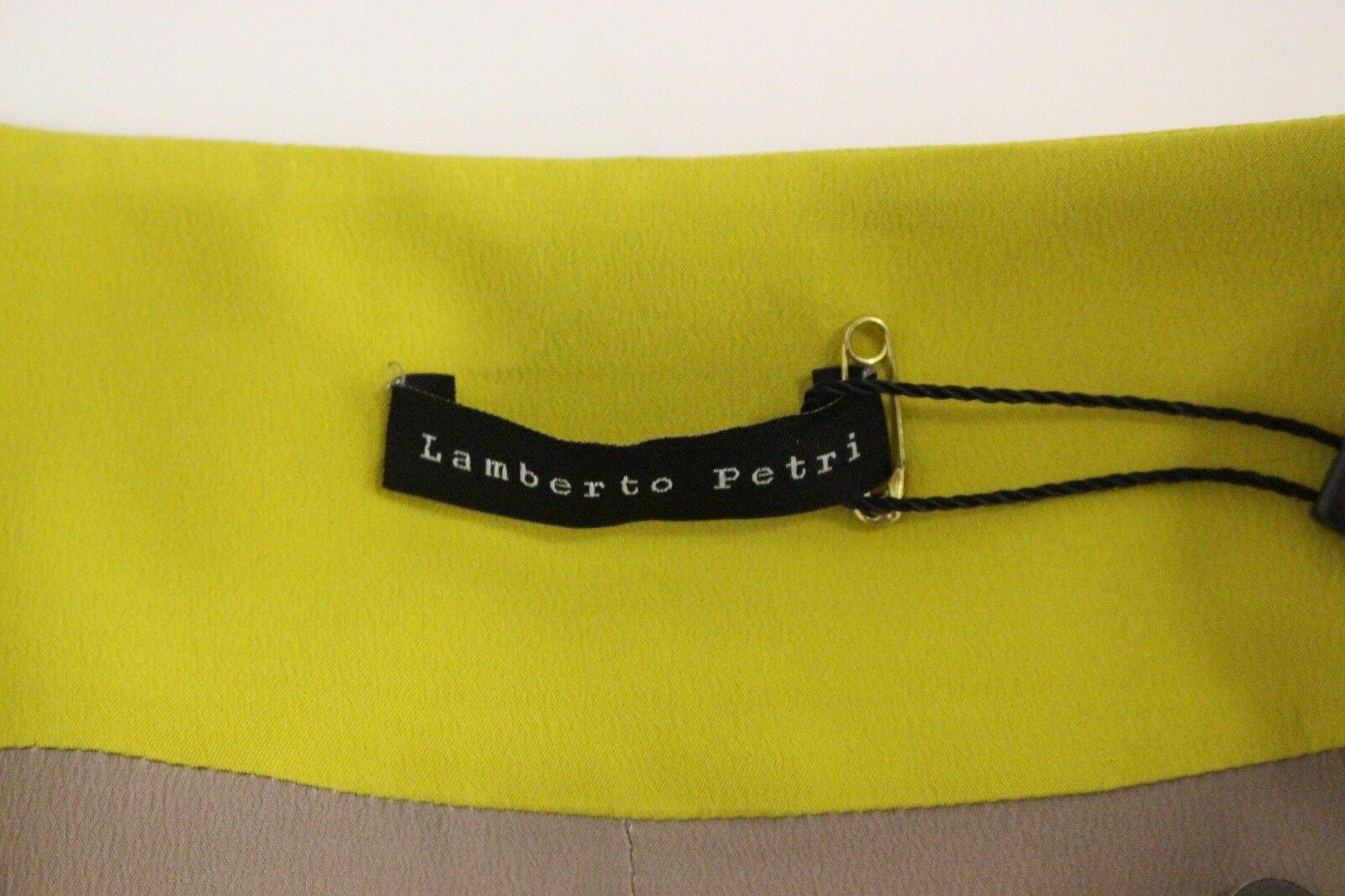 Nuevo Con Etiquetas  600 Lamberto Petri amarillo mostaza mostaza mostaza Blazer Chaqueta Gabardina IT42 US8 M de seda 9e40dd