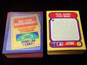 Details About Vintage 1988 Score Great Moments In Baseball Hologram Cards Complete Set Of 56
