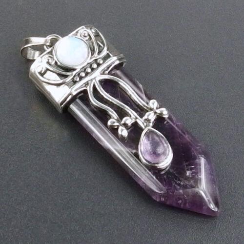 Natural Agate Jasper Turquoise Cristal Pierres précieuses perles rétro Flèche épée Pendentif