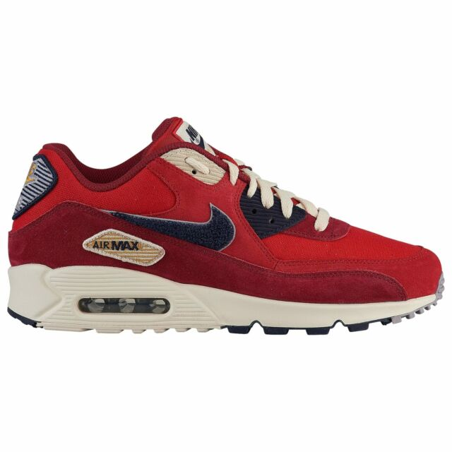b6db6944ff Nike Air Max 90 Premium SE Varsity Mens 858954-600 Red Running Shoes ...