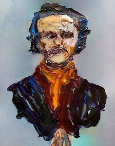 Abstract-Portrait-Edgar-Allen-Poe-Poet-Raven-Painting-Knife-Fine-Wall-Art-Print