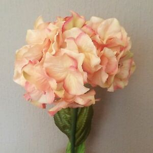 Individual vintage pinkpeach hydrangeas artificial faux silk image is loading individual vintage pink peach hydrangeas artificial faux silk mightylinksfo Image collections