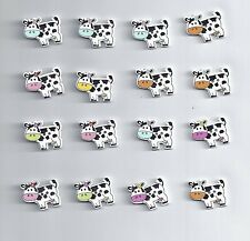10 Pcs 2 Holes Mixed Wooden Button Cute Cow pattern Scrapbook Craft Buttons(218)