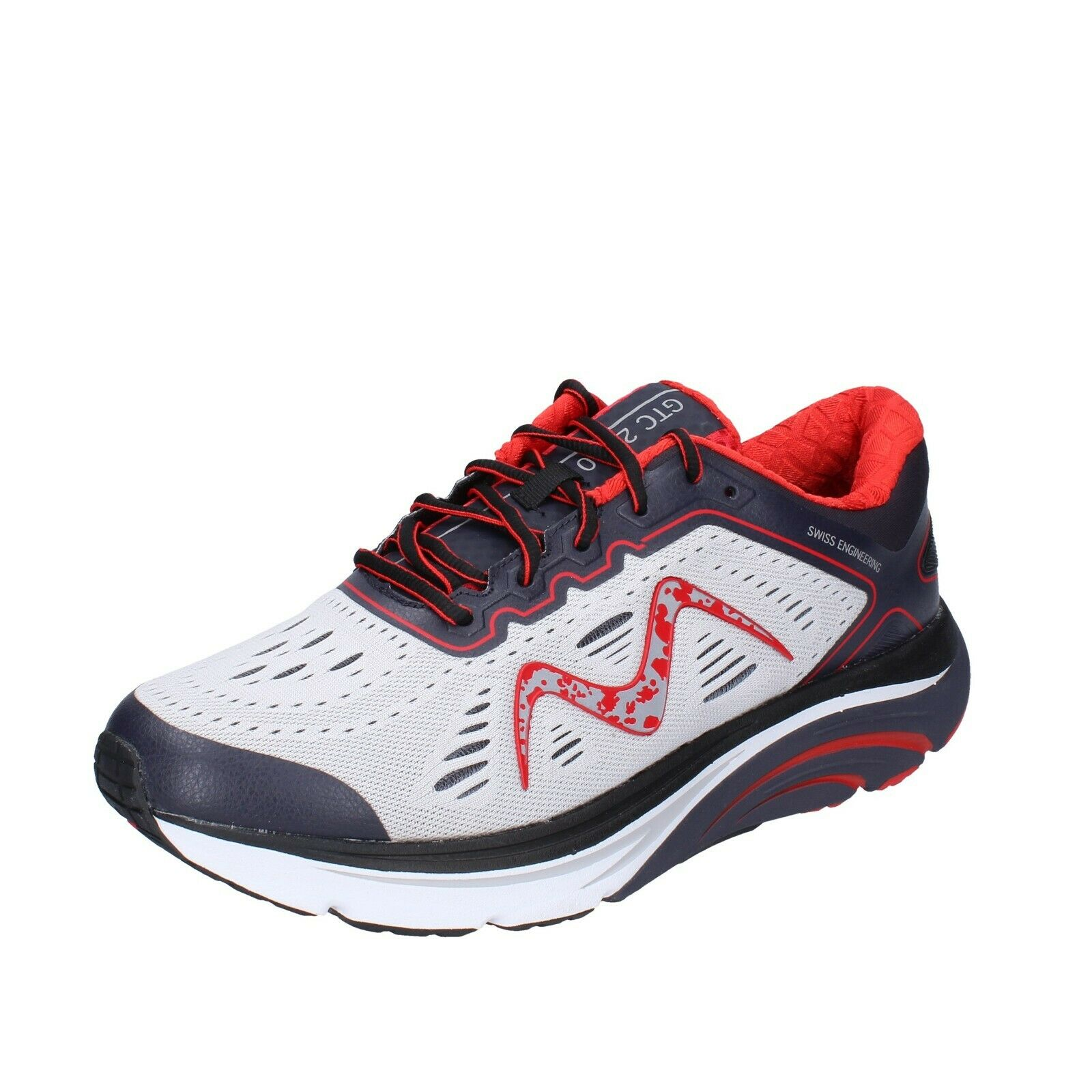 Mens MBT Shoes 45 EU Sneakers Red Fabric Blue bh660