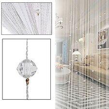 String Door Curtain Beads Room Divider Tassel Crystal Fringe Beaded Window Panel