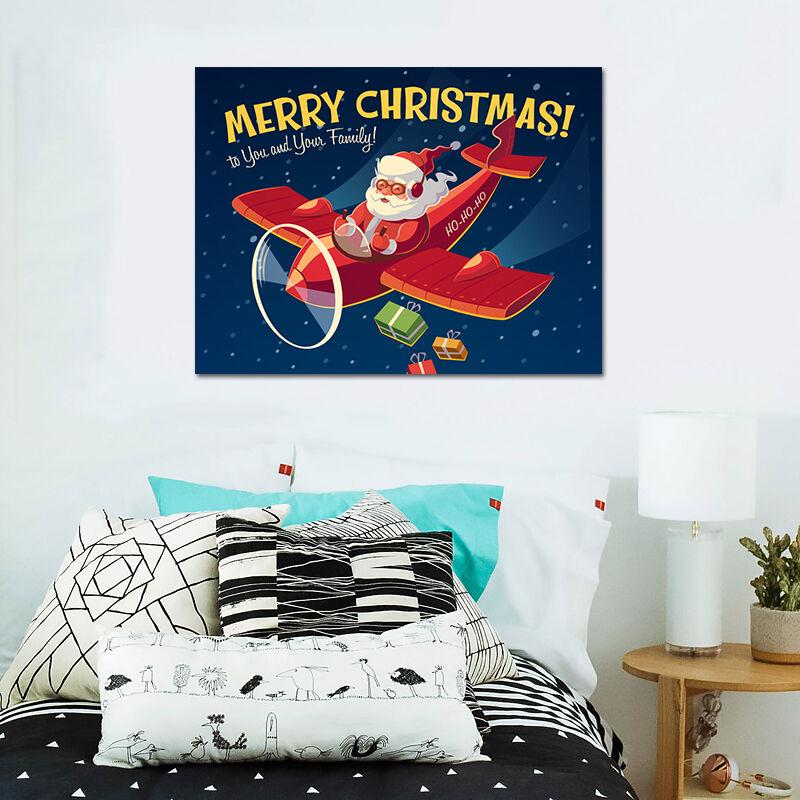 3D  Flugzeug Weihnachtsmann 894 Fototapeten Wandbild BildTapete AJSTORE DE Lemon