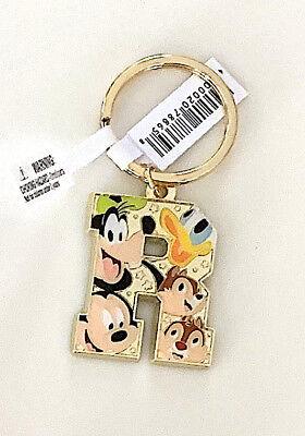 Mickey Mouse Brass Alphabet Keychain R