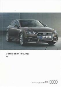AUDI-A4-A4-AVANT-S4-S4-Avant-2016-2017-Betriebsanleitung-Handbuch-B9-Bordbuch-BA