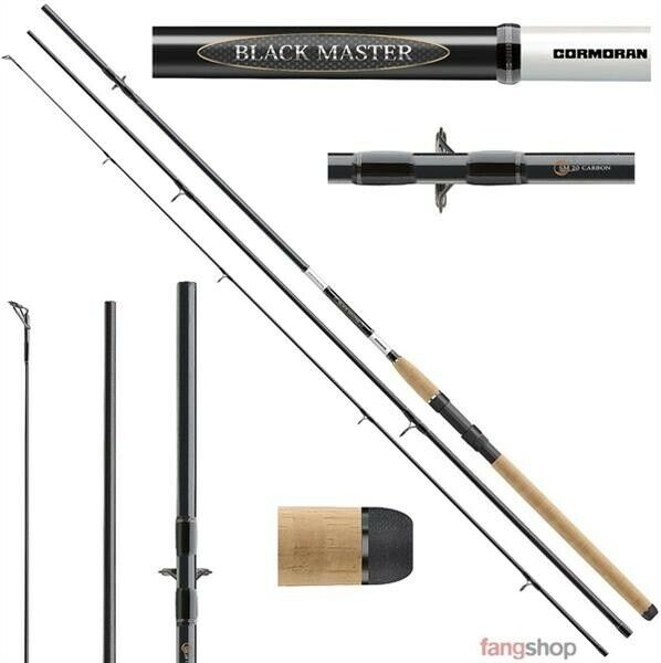 Cormoran schwarz MASTER ALLROUND 3tlg Rute 20-60g Karpfen Hecht Aal 3 00 3 60 3 90