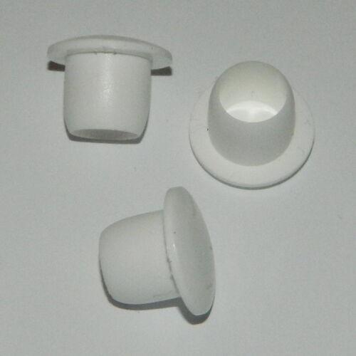 50 Stk. Abdeckstopfen , Blindstopfen für Bohrung  Ø 10mm weiss Kunststoff