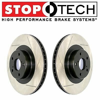 For Honda S2000 2000-2009 Front Pair Set of StopTech Brand Slotted Brake Rotors