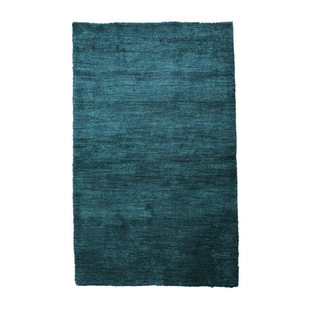 Hand Knotted Silk 8/'x10/' Area Rug Solid Blue BBH Homes BBLS0111