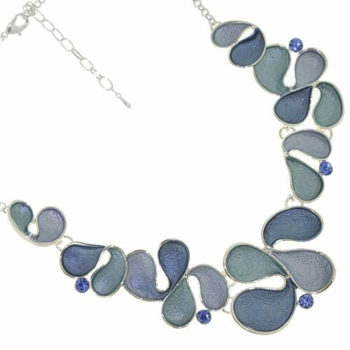 Fabulous Statement Fashion Jewellery Abstract Necklace with Chunky Swirling ...