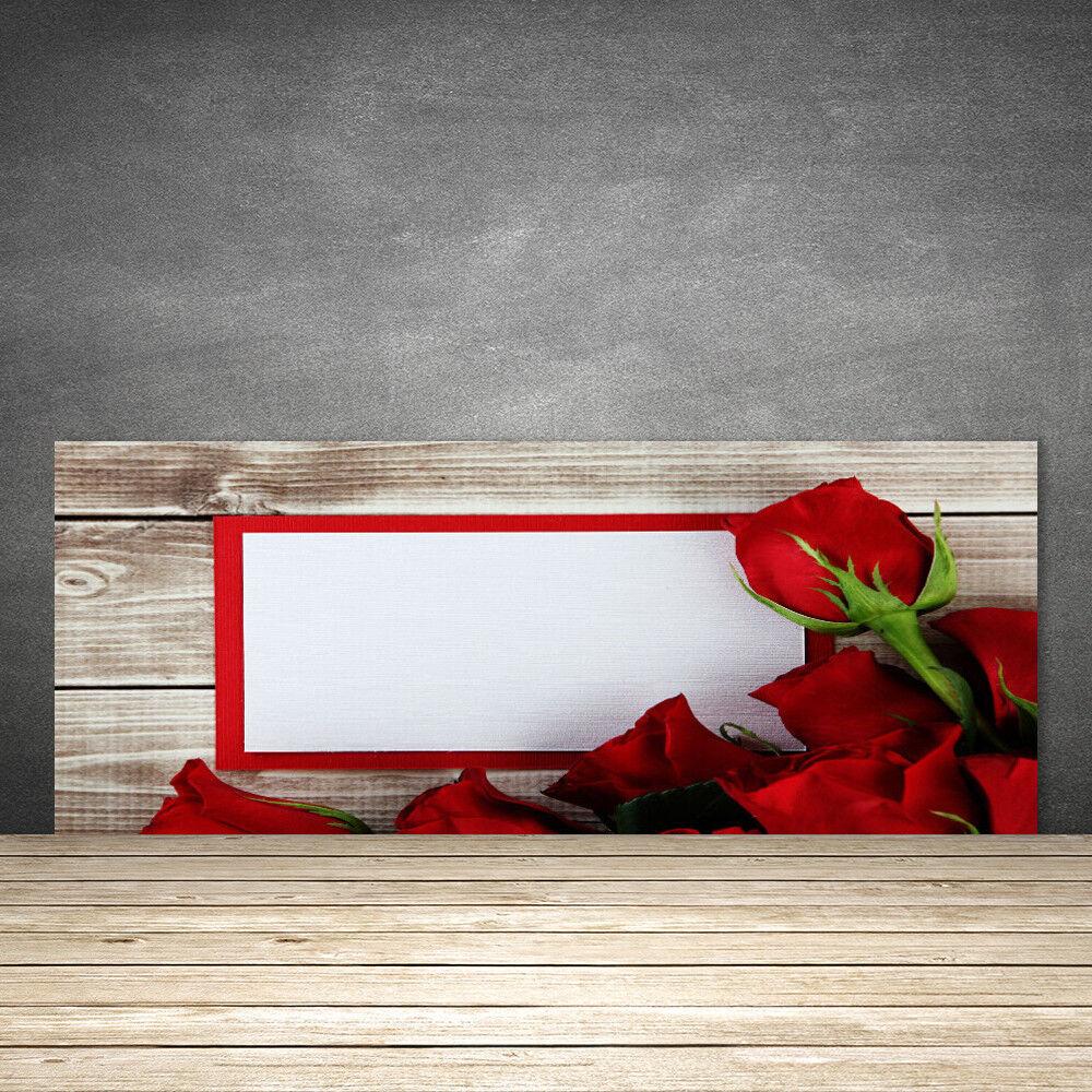 Crédence Crédence Crédence de cuisine en verre Panneau 125x50 Floral Rosas a226c6