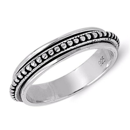 USA Seller Spinner Ring Sterling Silver 925 Unisex Jewelry Gift Size Selectable