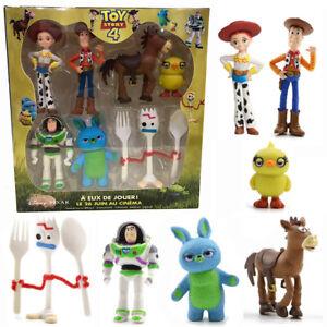 Toy-Story-4-Woody-Lightyear-Alien-Forky-Buzz-Lapin-Figure-Cake-Topper-7PC-Boite