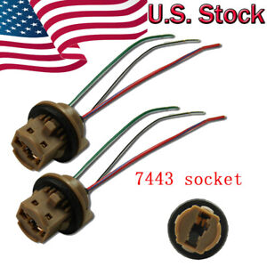 7443-7444NA-T20-Adapter-Wiring-Harness-Sockets-Wire-For-Turn-Signal-Light-Lamps