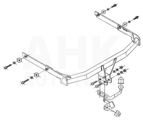 Kpl AHK Ford Fusion 02-12 Anhängerkupplung starr+ES 7p uni
