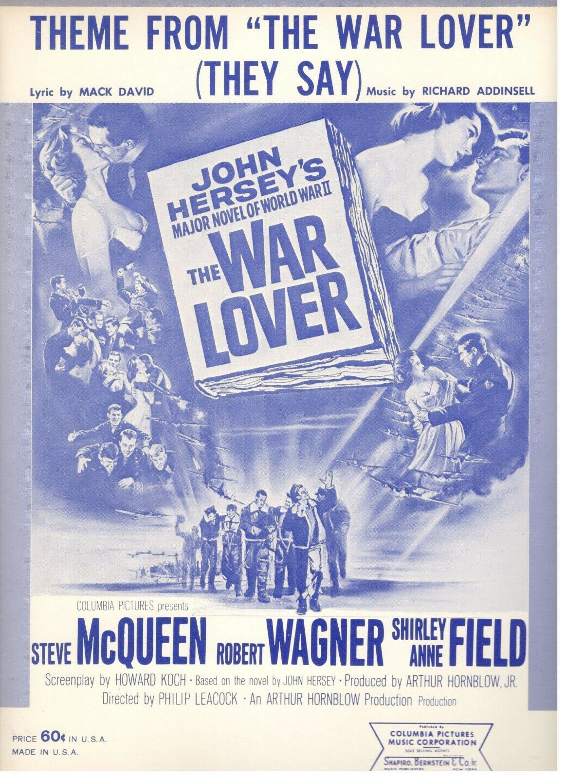 THEME FROM THE WAR LOVER-SHEET MUSIC-THEY SAY-McQUEEN-1962-VERY RARE-BRAND NEW