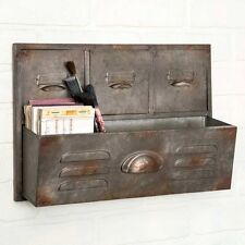 Filing Cabinet Wall Caddy - Unique Vintage Antique Farmhouse Industrial Style