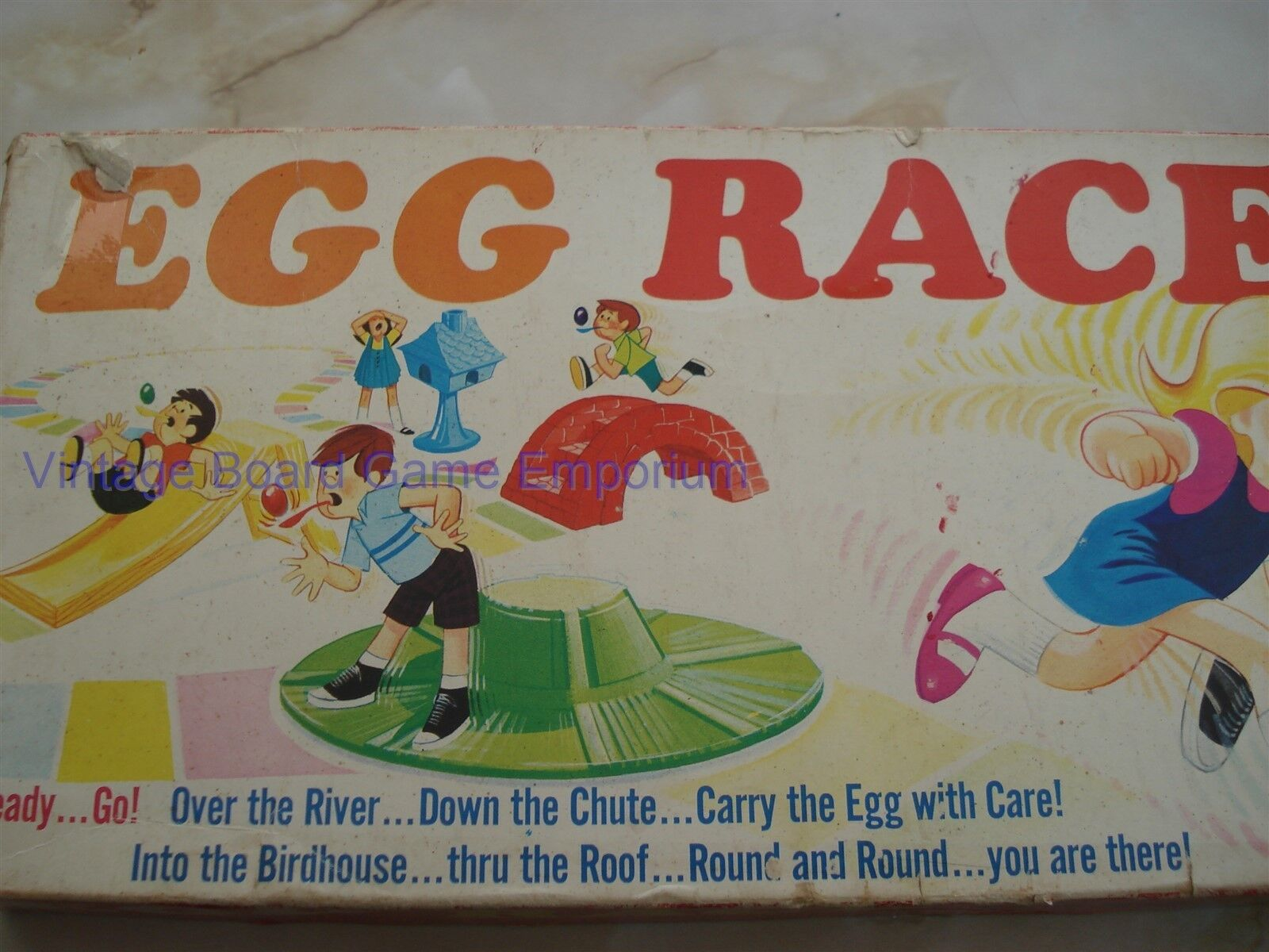 EGG RACE GAME - 1968 1968 1968 - RARE - GOOD ORDER - IDEAL - EGG RACE - FUN  - VINTAGE 111efe