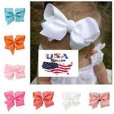 Lot of 20 Large Hair Bows w/Clips Baby Toddler Girls 6 Inch Bows Big Bows
