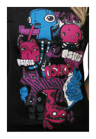 Osiris Shoes Skateboarding Women's Girls Black Jones Monsters T-shirt Large