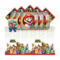 Super Mario Bros Nintendo Children's Birthday Complete Party Ta... Free Shipping