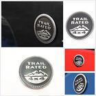 Car SUV Pickup Off Road Rear Trunk Gray Aluminum Trail Rated Logo Sticker Badge