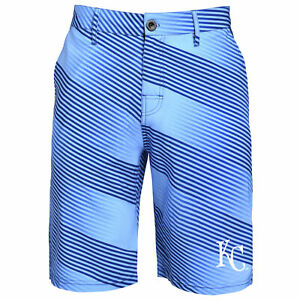 a53a47dd Details about Forever Collectibles MLB Men's Kansas City Royals Diagonal  Stripe Walking Shorts