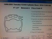 Yamaha Yz250 Cylinder Base Gasket 1999 2000 2001