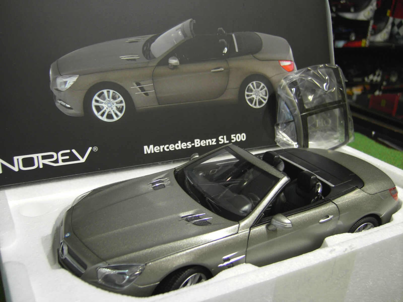 MERCEDES BENZ 2012 SL 500 cabriolet convertible Dark gris matt 1 18 NOREV 183590
