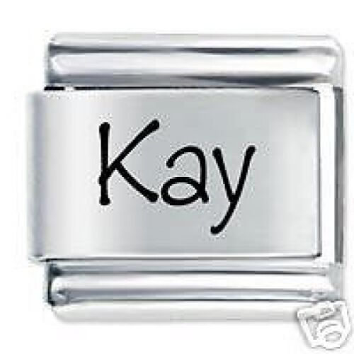 KAY Name Daisy Charm Fits Nomination Classic Size Italian Charms Bracelet
