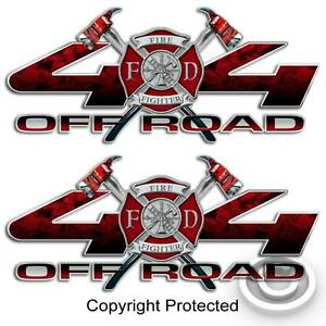 Red 4x4 firefighter truck sticker set volunteer fire department image is loading red 4x4 firefighter truck sticker set volunteer fire publicscrutiny Choice Image