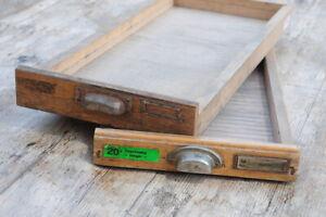 2x Original Schublade Holz Steckschriftkasten aus Druckerei Holzschublade Deko~~