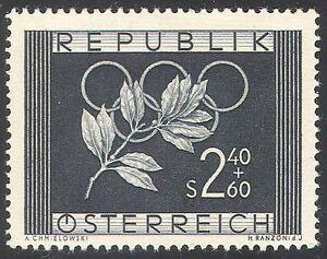 Austria-1952-Olympic-Games-Olympics-Sports-Laurel-Branch-Rings-1v-n42238