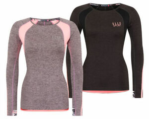 Womens-Elle-Sports-Active-Wear-Running-Long-Sleeved-Performance-Gym-Top-Shirt