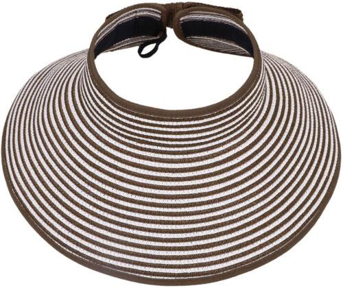 Luxury Women Ladies Travel Big Brim Foldable Summer Sun Hat Visor Cap